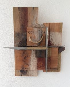 Tom Kuper materiewerk afmeting 30x40cm. (2009)