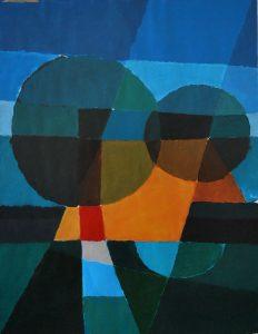 Tom Kuper acrylschilderij boerderij afmeting 60x50cm. (2002)