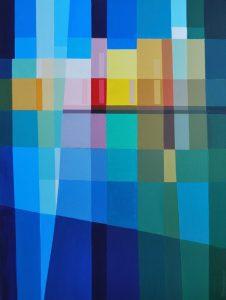 Tom Kuper acrylschilderij rivièra 60x80cm. (2011)