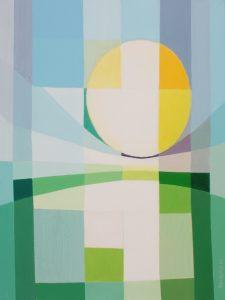 Tom Kuper acrylschilderij zon afmeting 60x80cm. (2011)